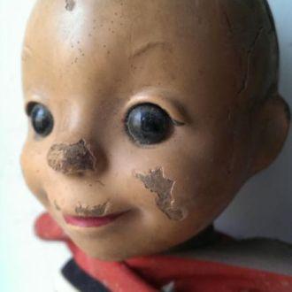 М Игрушка кукла футболист папье-маше со стеклянным