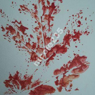 авторская картина Кленовый Листок Абстракция Пейзаж Кленовый лист Осень