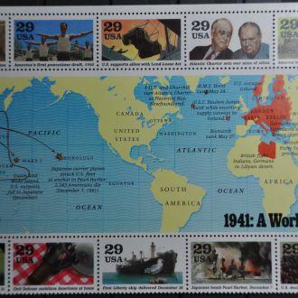 США Вторая Мировая Война Блок 1991 Scott # 2559