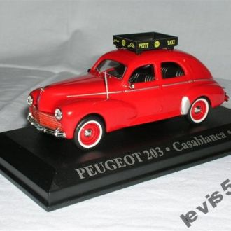 PEUGEOT 203 1960 такси Касабланка 1:43 DeA