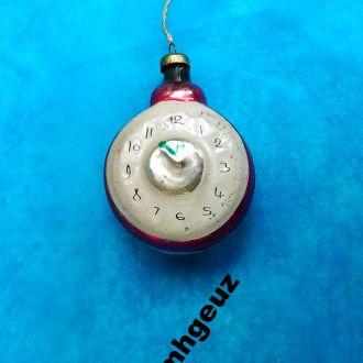 Новогодняя игрушка Часы Будильник ссср 50-е годы