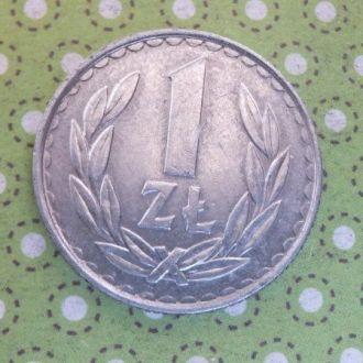 Польша монета 1 злотый 1986 год !