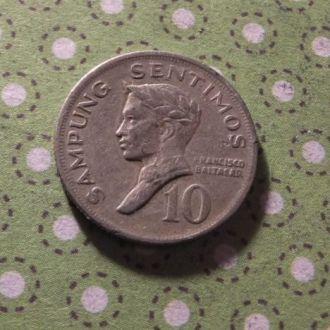 Филиппины монета 10 сантимов 1972 год