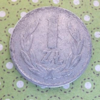 Польша монета 1 злотый 1975 год