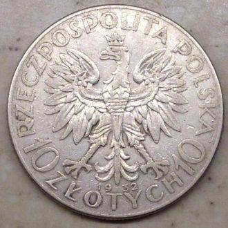 10 злотых 1932 W