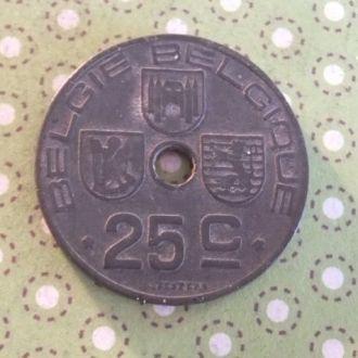 Бельгия 1946 год монета 25 сентимов
