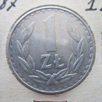 1 злотый Польша 1987