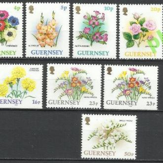 Гернси 1992 флора цветы 12м.**
