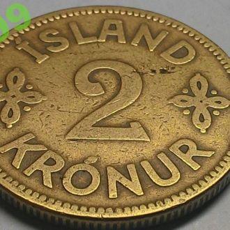 ИСЛАНДИЯ 2 КРОНЫ 1925 тираж 126 000