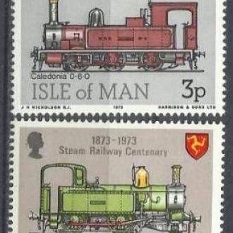 Мэн 1973 транспорт железная дорога 4м.**