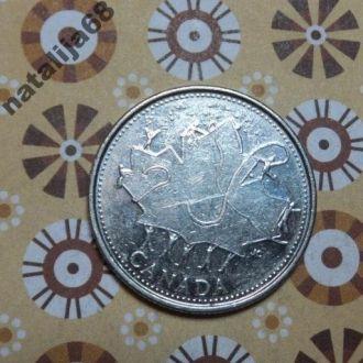 Канада 2002 год монета 25 центов квотер !