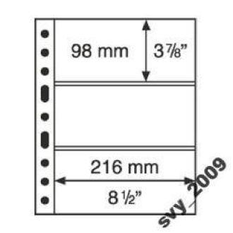 Лист-обложка GRANDE на 3 строки (3C) прозрачный