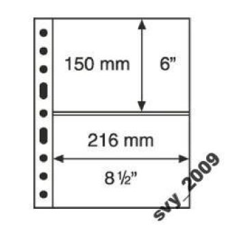 Лист-обложка GRANDE на 2 строки (2C) прозрачный