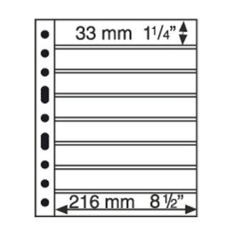 Лист-обложка GRANDE на 8 строк (8S) черный