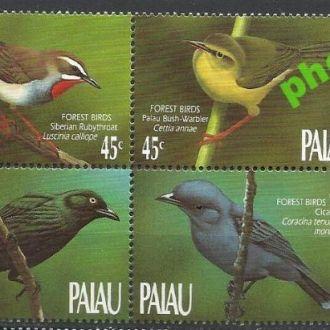 Палау 1990 фауна птицы 4м.**