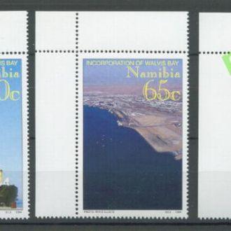 Намибия 1994 карта транспорт корабль 3м.**