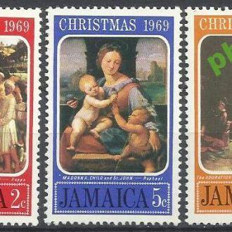 Ямайка 1969 живопись Рождество 3м.**