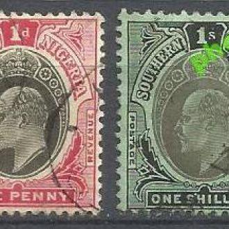 Южная Нигерия 1907 король 2м.гаш.