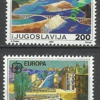 Югославия 1987 Европа СЕПТ архитектура 2м.**