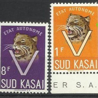 Южный Касай 1961 фауна тигр 4м.**