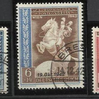 Германия 1942 Европа фауна кони почтовый конгресс