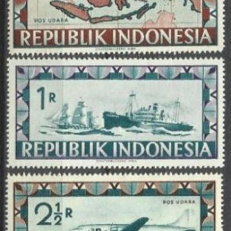 Индонезия локал 1949 карта транспорт авиация нидер