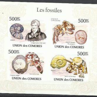 Коморы 2010 фауна доисторическая динозавры фоссилы