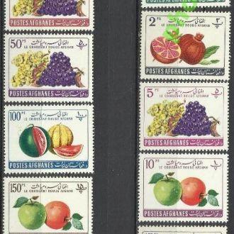 Афганистан 1961 флора фрукты виноград медицина Кра