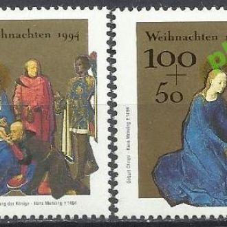 Германия 1994 Рождество живопись религия 2м.**