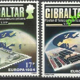 Гибралтар 1984 Европа СЕПТ почта и связь 2м.**
