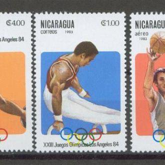 Никарагуа 1983 Олимпиада Лос Анжелес бокс 7м.**