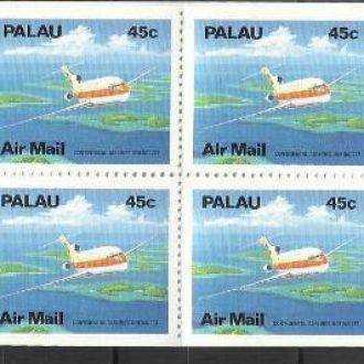 Палау 1989 транспорт авиация 45ц буклет**