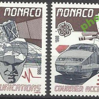 Монако 1988 Европа СЕПТ транспорт железная дорога
