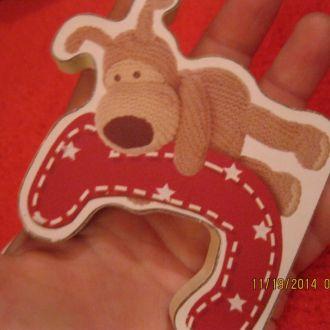 BOOFLE сувенир пес собака буквы лот=2шт ДЕКОР ДЕТИ