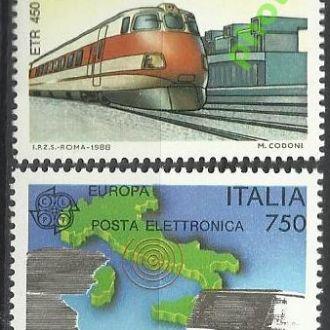 Италия 1988 Европа СЕПТ транспорт железная дорога