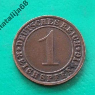 Германия 1934 год монета 1 пфенинг Е !
