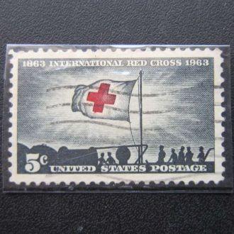 марка США 1963 Красный Крест