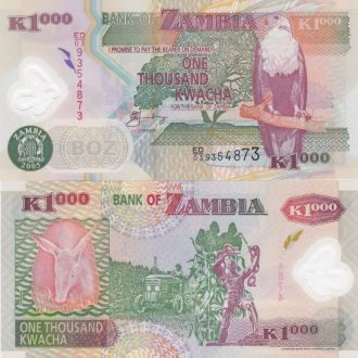 Zambia Замбия - 1000 Kwacha 2005 UNC JavirNV