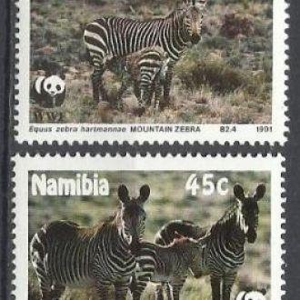 Намибия 1991 фауна ВВФ 4м.**