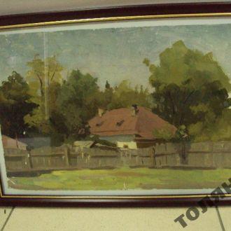 картина сельский пейзаж рябоконь