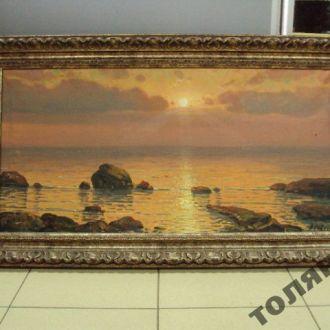 картина пейзаж морской закат севец