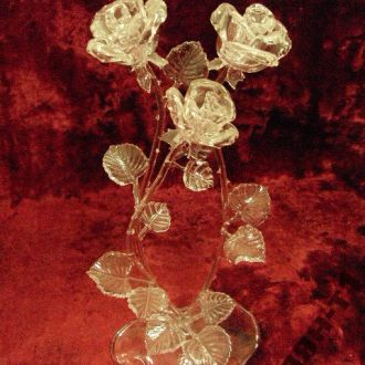 цветы розы розочки стекло хрусталь