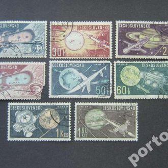 8 марок Чехословакия 1963 космос полная