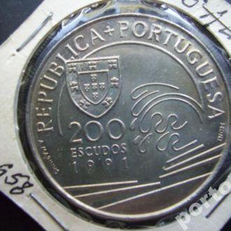 200 ишкудо Португалия 1991 Колумб корабль