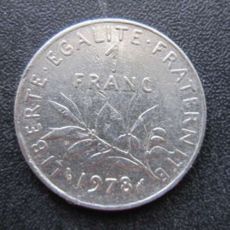 1 франк Франция 1978
