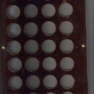 Планшет для монет на 28 монет винты бронза