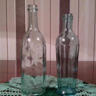 Бутылки граненные 2шт 50-е годы из СССР