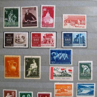 БОЛГАРИЯ = 1954 - 1972 г. = 144 марок = гаш.