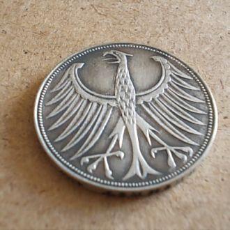 5 марок 1960г. серебро