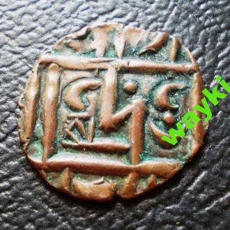 Бутан 1/2 рупии 1835-1885 г.г. - тип 2